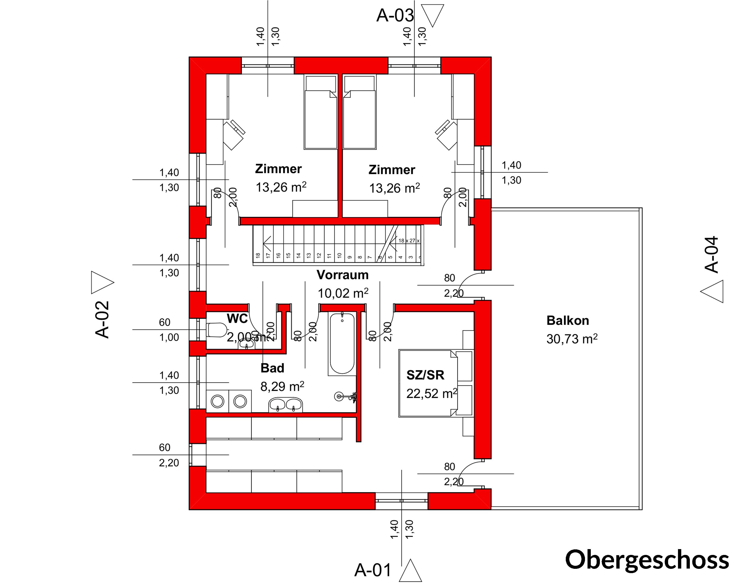 Einfamilienhaus robin 140 zainer haus for Grundrissplan einfamilienhaus