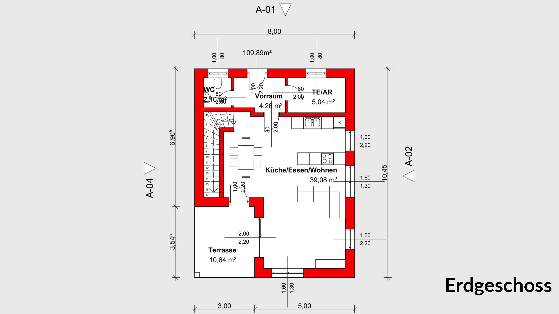 Einfamilienhaus nadine 110 zainer haus for Grundrissplan einfamilienhaus